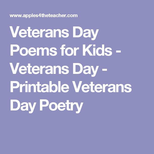 Best 25+ Veterans day poem ideas on Pinterest Veterans poems - military veteran resume examples