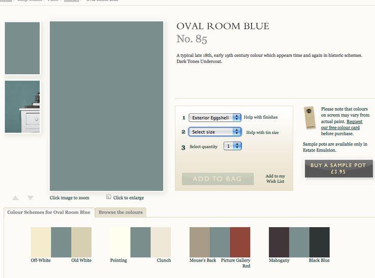 Oval Room Blue On Colour Wheel