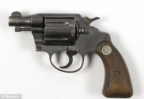 The Colt .38 snub-nose detective special revolver, let, was found taped to the thigh of Bonnie Clyde after she was shot by Texas and Louisiana police officers.
