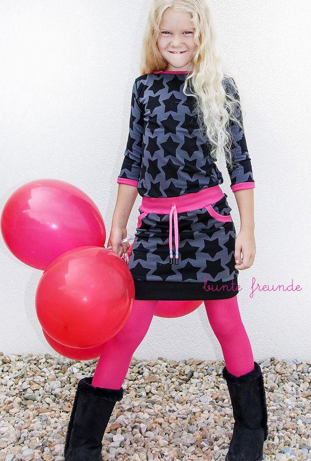 farbenmix, black staaars, staaars, nähen, genähtes, nähblog, pink, kleid,  mariella, designbeispiele,