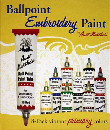 Aunt Martha's offer the best Aunt Martha's Ballpoint 8-Pack Embroidery Paint, Primary Colors.