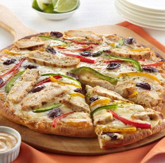Try this delicious Southwest Ranch Chicken Pizza recipe today!