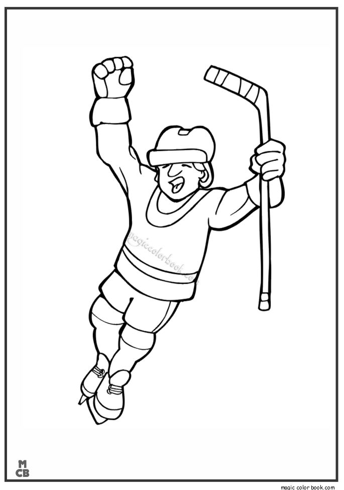28 best Sport Coloring pages free online images on Pinterest - new coloring page of a hockey player