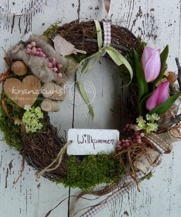 NATUR ♥ Willkommen Frühling♥ Türkranz/ Frühlingskranz LANDHAUS SHABBY