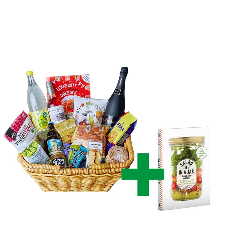 Deze Picknickbox heeft 16 heerlijke producten. Ook ontvang je het boek 'Salad in a jar' cadeau. 7Up - Lemon Lemon De kleine keuken - Toverstokjes Kalau Sea Veggies - Organic Nori Snack Chouffe Soleil Enrico Saladetoppers - Mediterrane...