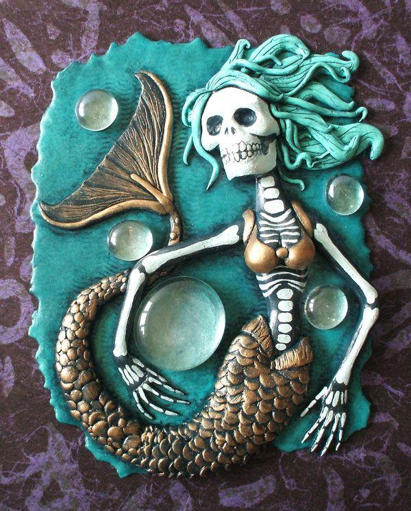 Dia de los Muertos Mermaid  by ~Smilodonna