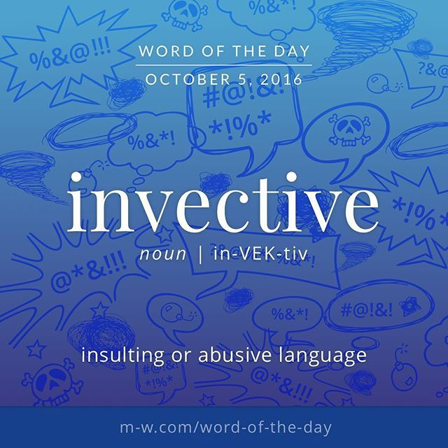 Do you know the meaning of english word Invective? Have a look  #EnglishVocabulary #LearnEnglish #English