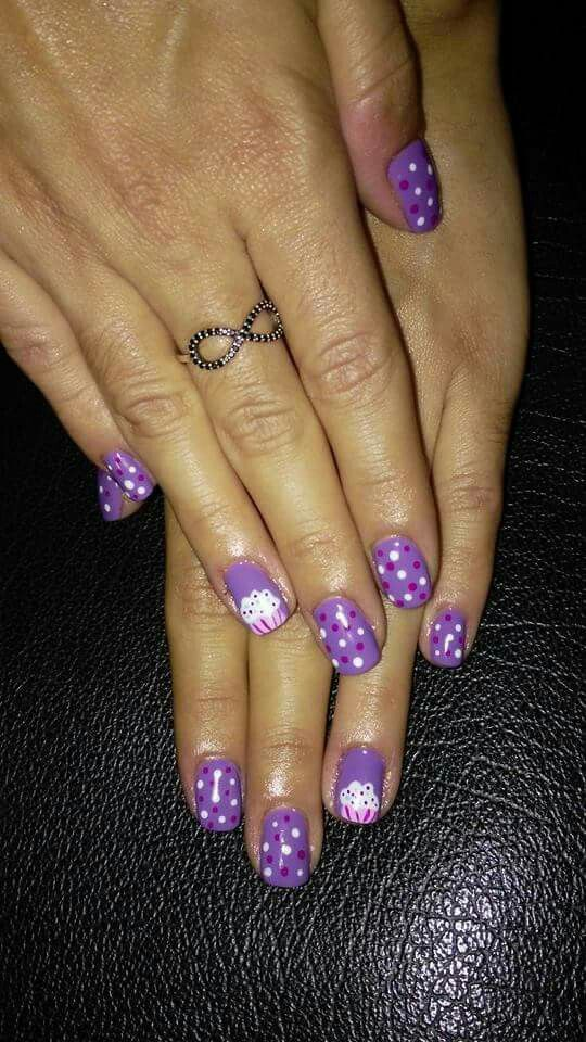 #nailart #naildesigns #cupcake #nails #polks