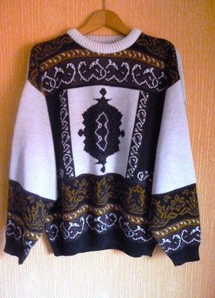 Kup mój przedmiot na #vintedpl http://www.vinted.pl/damska-odziez/swetry-z-dzianiny/6109310-sweter-w-geometryczne-wzory