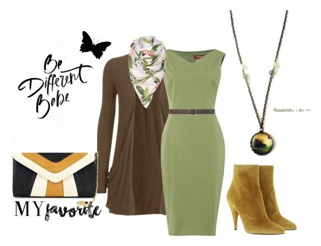 """""""Green Spring"""" by hemos on Polyvore featuring WearAll, Yves Saint Laurent, MaxMara, Lauren Ralph Lauren, Nine West and Ted Baker"""