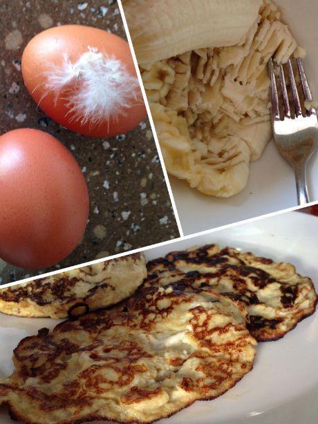 Banaanpannenkoekjes voor het ontbijt - Goed Eten Gezond Leven #banana #pancakes
