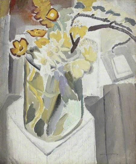 Flowers in a Vase. Ivon Hitchens