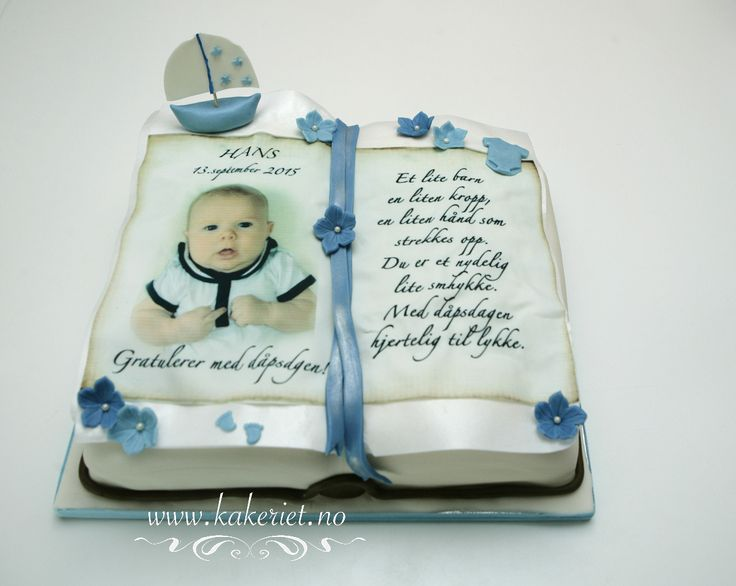 Book christening cake for a little cutie <3