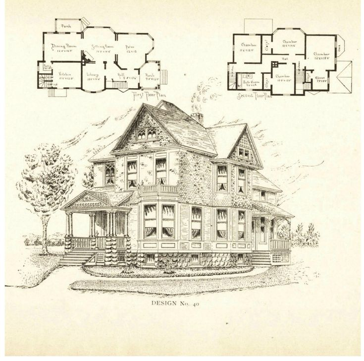 Original victorian house plans for Vintage victorian house plans