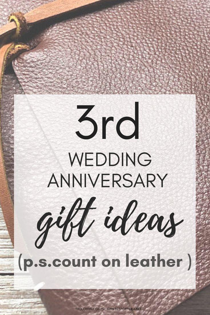 Third wedding anniversary gift leather