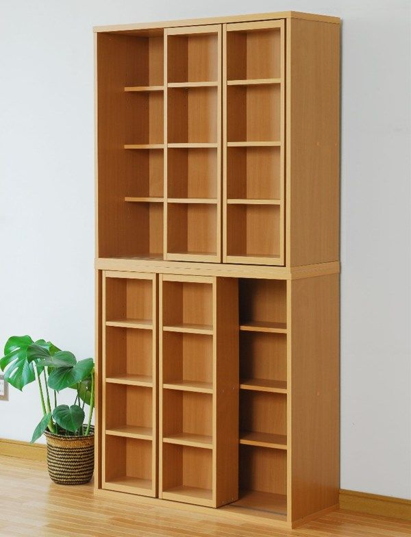 Rakusouya Rakuten Global Market Storage Sliding Shelf Cd Rack Dvd Rack Double Slide Bookcase