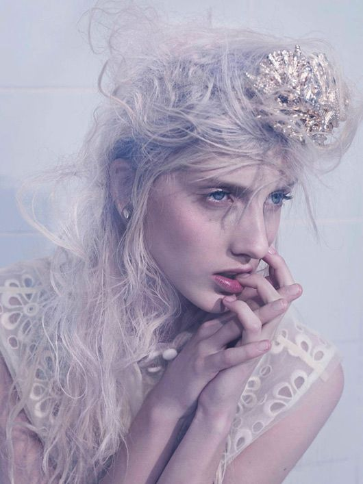 Iris-Egbers_Tush-05Summer 2012, Philip Rich, Messy Hair, Tush Magazines, Iris Egber, Winter Wonderland, Fashion Portraits, Fashion Photography, Ice Queens