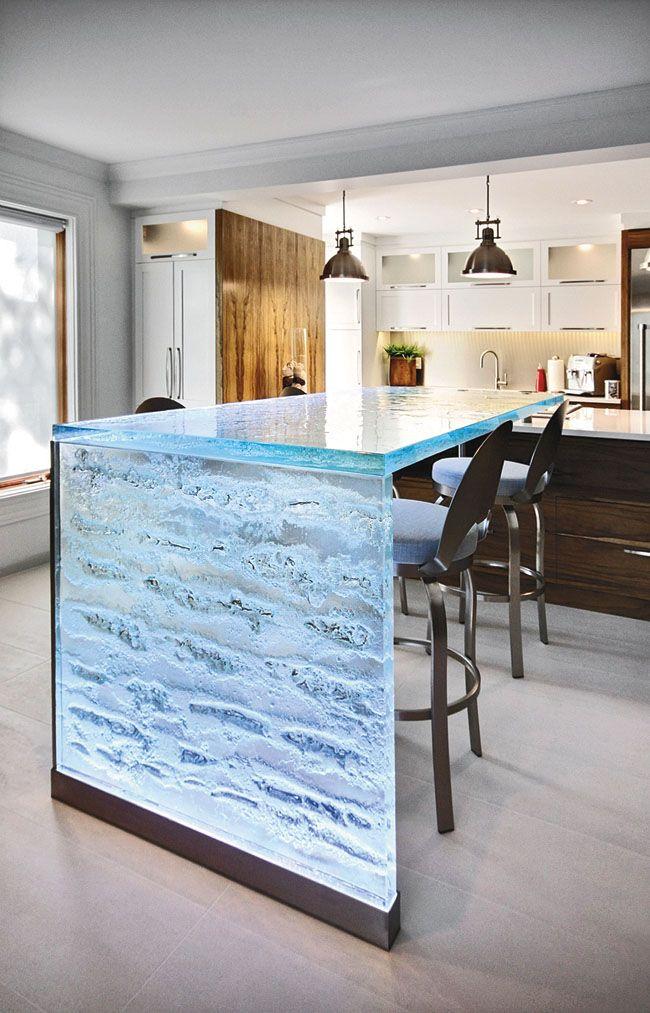 25 best ideas about waterfall countertop on pinterest - Kitchen countertop designs photos ...