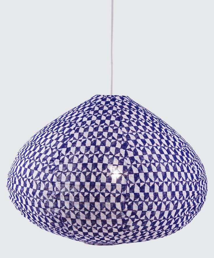 """Azulejos"" lampshade by Paris au mois d'août"