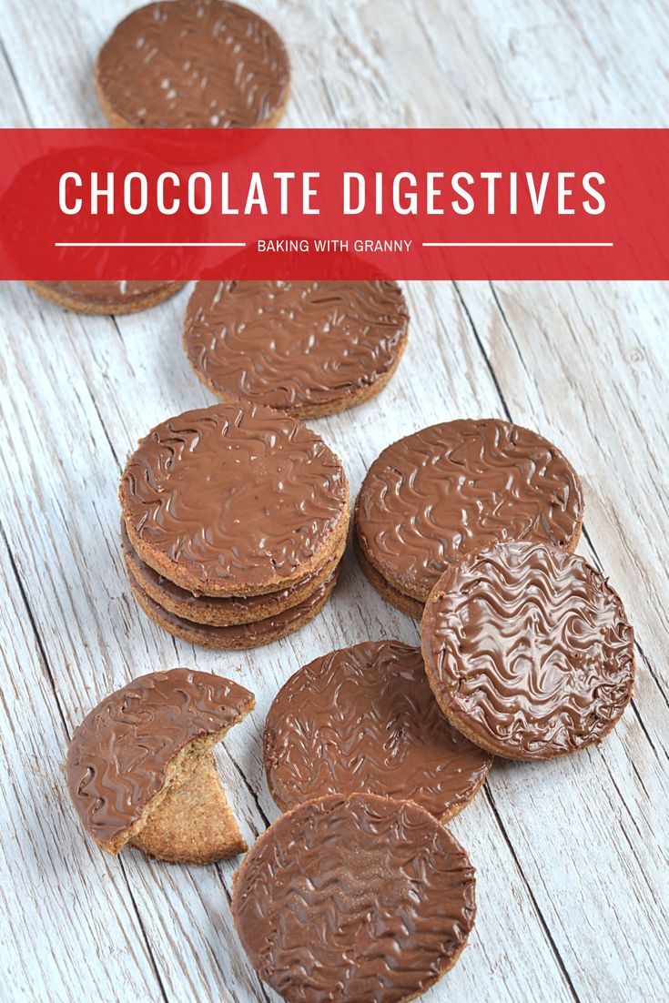 Chocolate Digestives. Bake the favourite British biscuit [cookie] at home. Perfect for Baking with kids - easy and delicious!