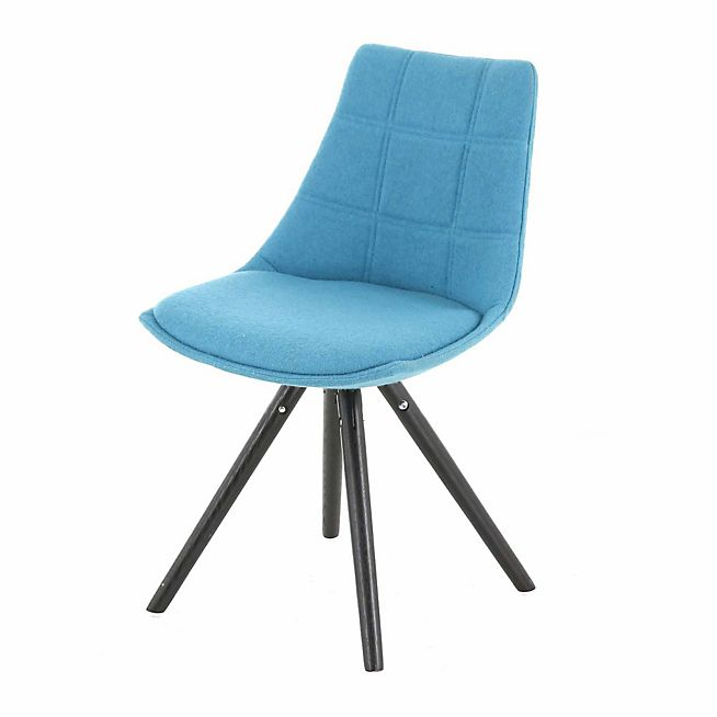 Chaise bleu canard gallery of fauteuil scandinave annes for Chaise bleu turquoise