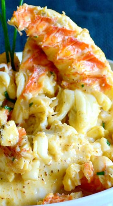 Cajun Lobster Mashed Potatoes _ These beaten with boursin, a soft, garlic-&-herb flecked cheese that helps make these potatoes super creamy. The sauce that gets poured over the top is seasoned with Old Bay & chili powder, then freshened up with a hit of chives, & the whole thing is stirred together tableside!