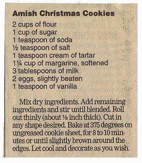 Amish Christmas Cookies