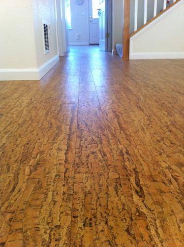 Beautiful Cork Floors In Basement