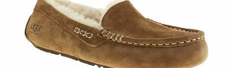 ugg australia Tan Ansley Slippers Ever worn your UGG Australia boots and thought I never want to take these off? Treat your feet to comfort even when youre lounging around the house, with the Ansley. This premium tan sheepskin slipper http://www.comparestoreprices.co.uk/womens-shoes/ugg-australia-tan-ansley-slippers.asp