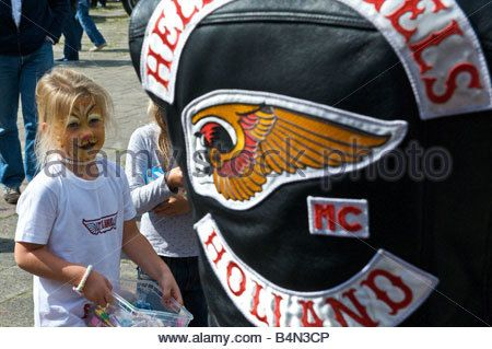 Netherlands Amsterdam Angels Place Hells Angels clubhouse open house - Stock Image