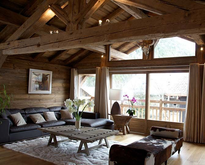 Switzerland This Ski Chalet Living Room Decor Is Just