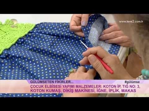 Derya Baykal'la Gülümse: Kız Çocuk Elbise Yapımı - YouTube