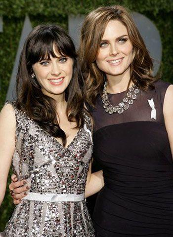 Zooey + Emily Deschanel! I had no idea they were sisters ...
