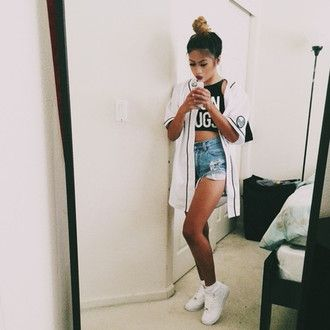 shoes blouse top t-shirt short tank shprts denim baseball jersey sneakers jacket bun jersey oversized shirt dress shirt