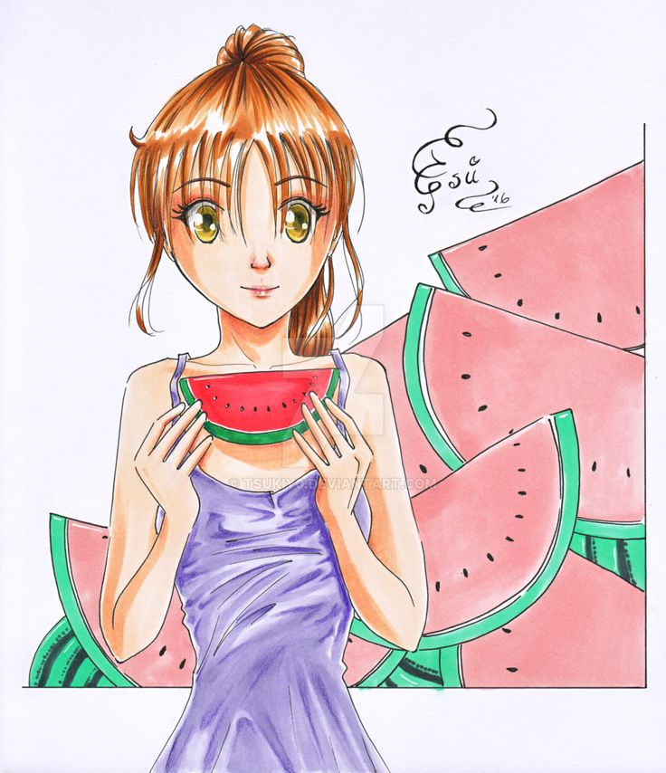 Watermelons by TSUKIY0 on @DeviantArt