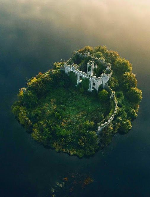 At the Castle Island in Lough Key, County Roscommon, Ireland.