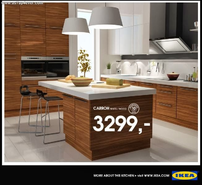 Top 15 Modern IKEA Kitchen Design Inspirations : Stunning White IKEA Kitchen  Design With White Colored Countertop And Minimalist Kitchen Island Also  White ...