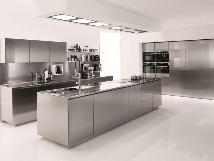 Küche aus edelstahl filofree steel by euromobil design roberto gobbo