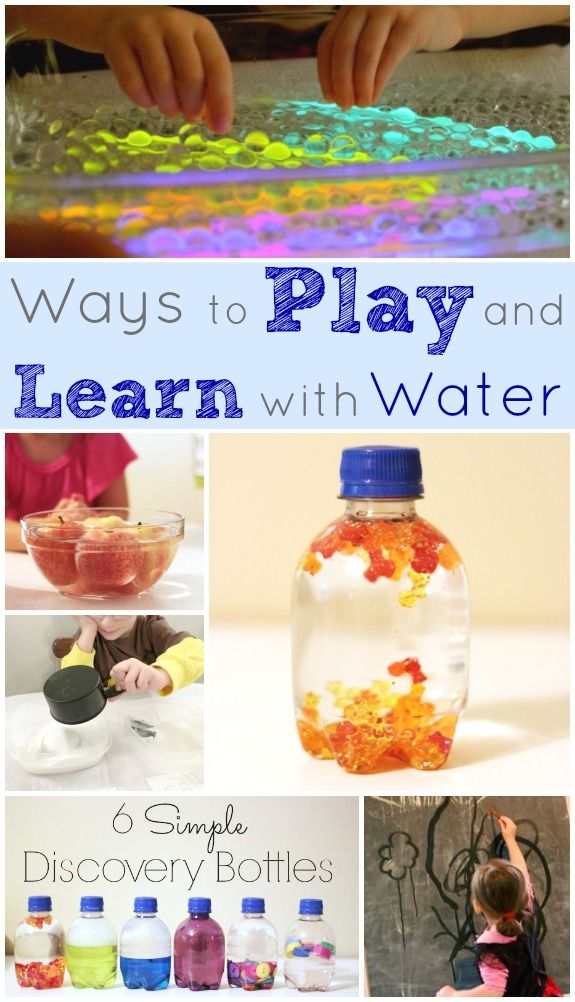 Ways to Play and Learn with Water Indoors -- Keeps the kids busy for a long time!!