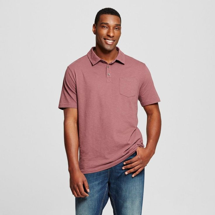 Men's Big & Tall Polo Shirt Red 4XBT - Mossimo Supply Co., Size: 4XB Tall