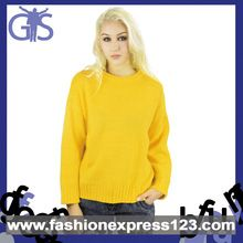 2015 Hot Sale OEM Yellow Acrylic Knitted Women Sweater Best Buy follow this link http://shopingayo.space