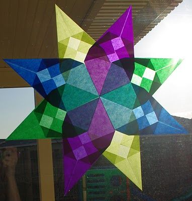 Waldorf Window Stars ~ Mom's Crafty Space