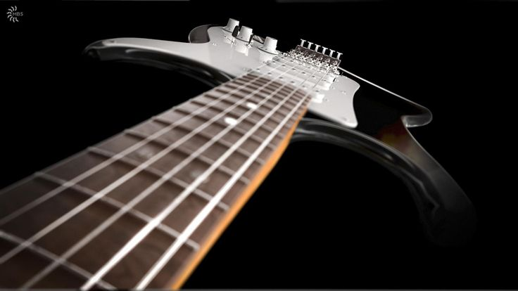 Vintage Kramer guitar modeled in NX by Isak Nordal, rendered in KeyShot.