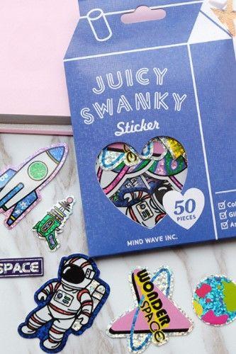 Japanese Kawaii Milk Box Mindwave Sticker Sack - Juicy Swanky [Space]