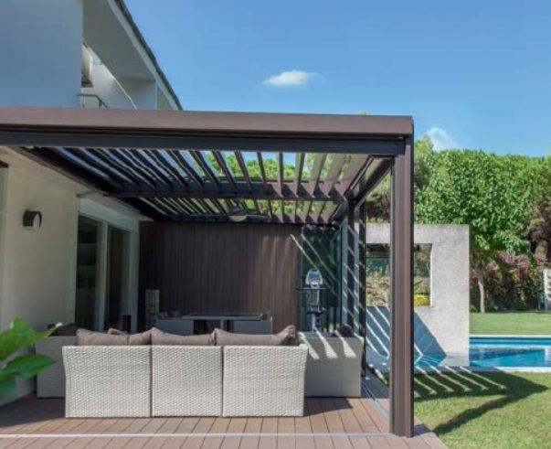 corradi alba system outdoor terrasoverkapping lamellen corradi pergotenda outdoordesign. Black Bedroom Furniture Sets. Home Design Ideas