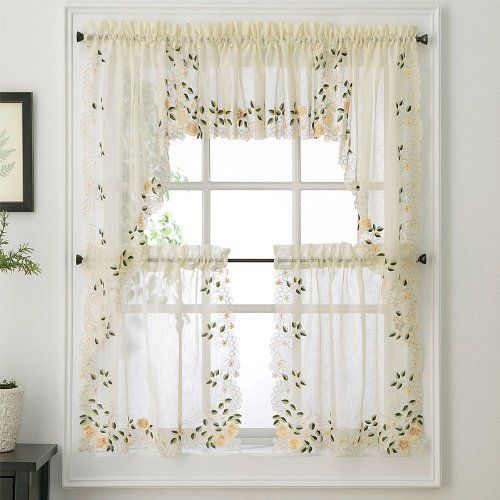 Rosemary Floral Kitchen Tier Curtain by N/A. $9.97. Multi-colored ...