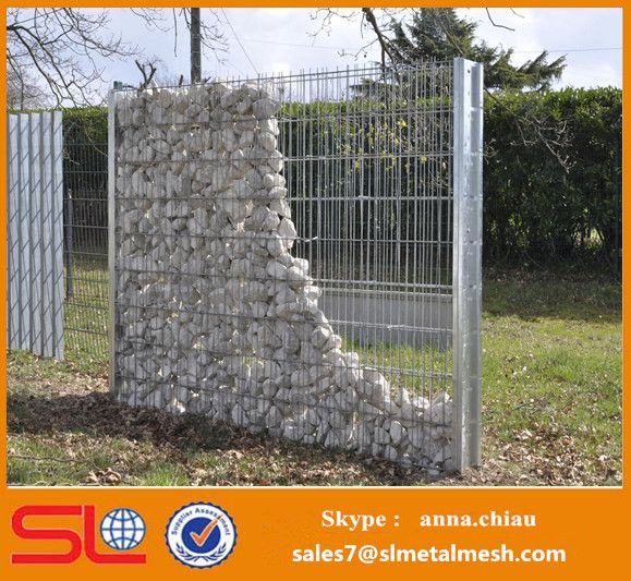 how to build a rock wall with wire