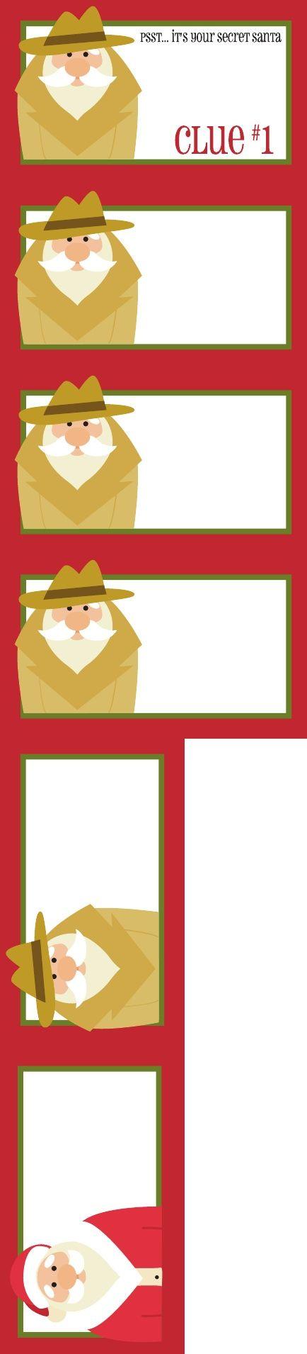 Printable Secret Santa Gift Tags