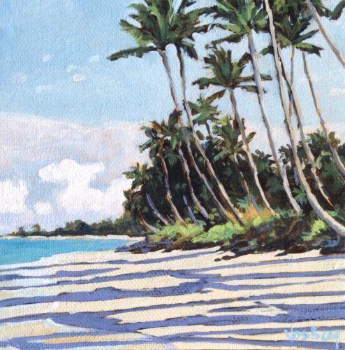 Island Beach Scenes: New Vosberg Acrylic Painting Maui Island Tropical Beach