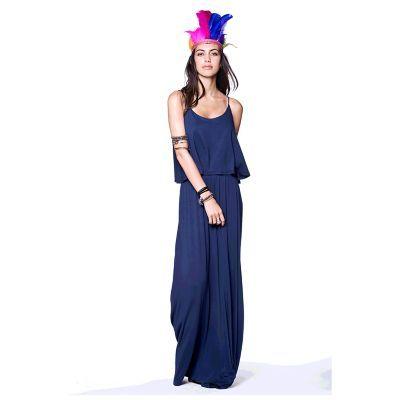 Vestido largo capa Sybilla
